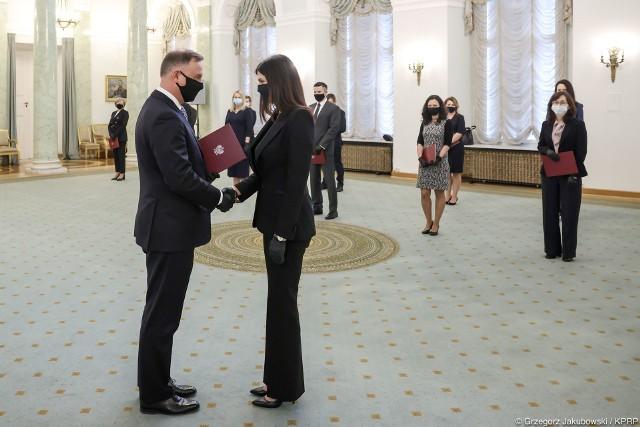 Uroczystość wręczenia nominacji sędziowskich przez prezydenta Andrzeja Dudę