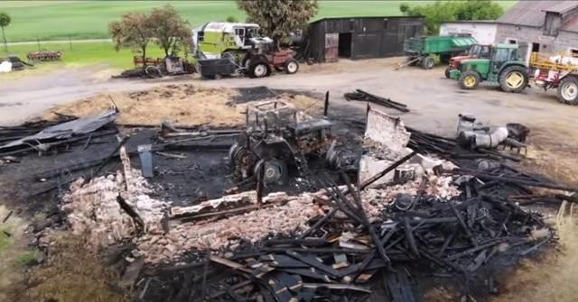 Trwa zbiórka - chodzi o pomoc w odbudowie spalonego gospodarstwa w gminie Prabuty