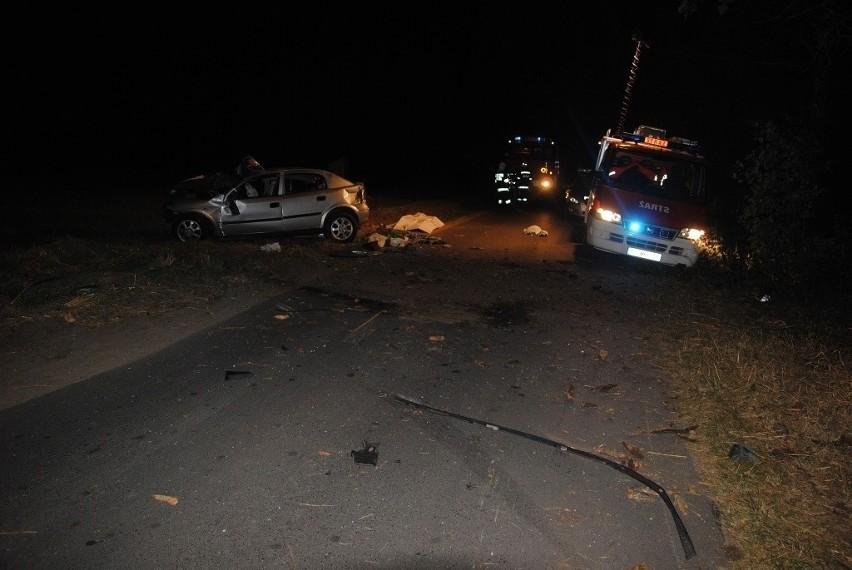 Śmiertelny wypadek pod Tomaszowem. 24-latek rozbił się na drzewie [ZDJĘCIA]
