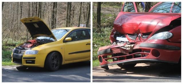Wypadek trzech samochodów na drodze Krotoszyn-Sulmierzyce