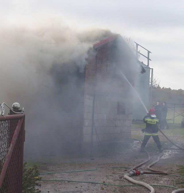 Pożar chlewu w Sławutowie 23.10.2015