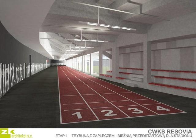 Jedną z części nowego stadionu ma być kryta bieżnia.
