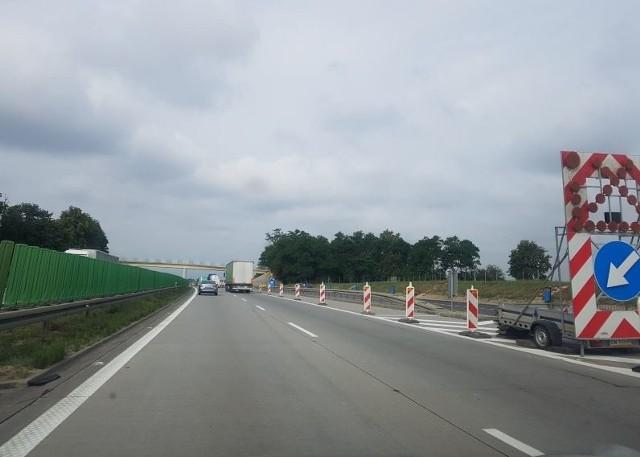 Zwężenia na autostradzie A4 pod Wrocławiem.