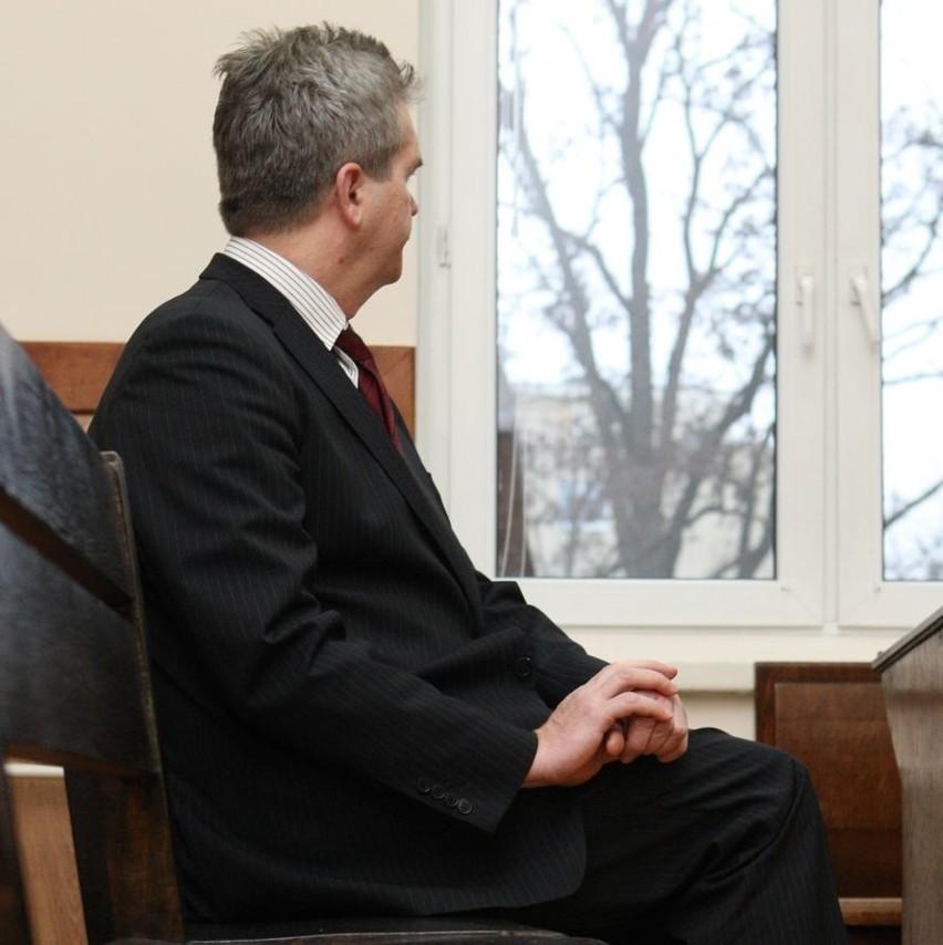 Jacek Graczyk na wczorajszej rozprawie w słupskim sądzie.