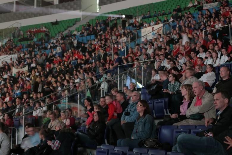 Tak wyglądały trybuny podczas ostatnich mistrzostw świata w karate WUKF w Szczecinie.