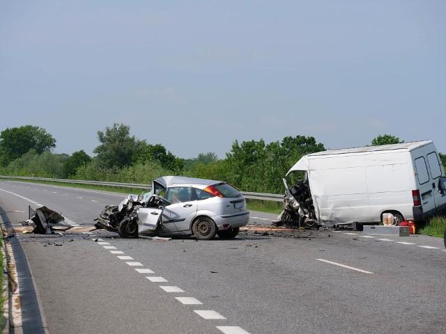 Wypadek śmiertelny na obwodnicy Kędzierzyna-Koźla, droga krajowa nr 40