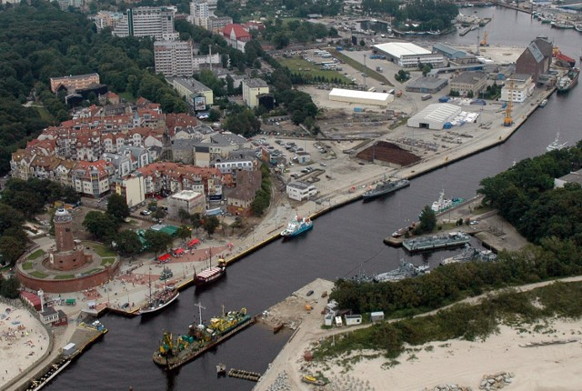 Port w Kołobrzegu.