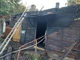 Bielsk Podlaski. Pożar przy ul. Brańskiej. Dom spłonął całkowicie
