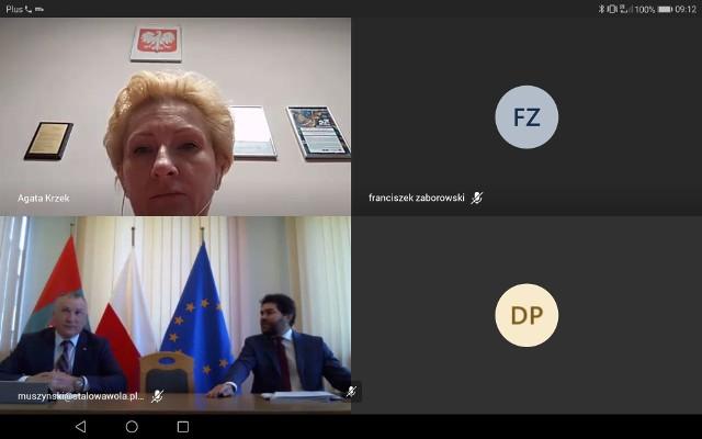 """Tak zwany """"zrzut ekranu"""" ze zdalnego posiedzenia sesji Rady Miejskiej"""