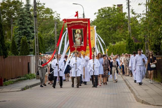 Procesja Bożego Ciała w parafii Chrystusa Króla w Białymstoku