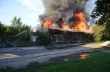 Pożar przy dworcu. Dwie osoby ranne