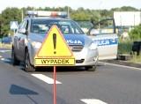 Wypadek pod wsią Bobrzany w gminie Małomice. Zderzyły się osobówka i ciężarówka