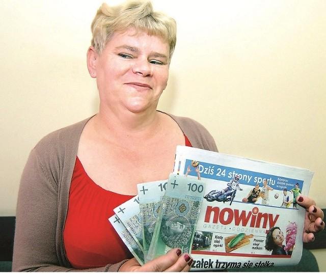 Pani Maria dzięki Loterii Nowin wygrała 500 złotych