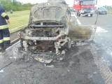 Bochnia. Pożar samochodu na autostradzie A4 [ZDJĘCIA]