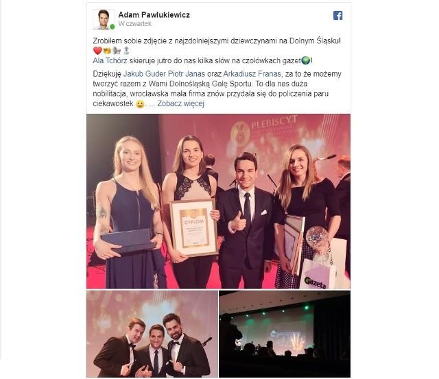 SPORTOWIEC ROKU 2019. Chociaż minęło już kilka dni od Dolnośląskiej Gali Sportu, która podsumowała 67. Plebiscyt Gazety Wrocławskiej na Najlepszego Sportowca i Trenera Roku, to wciąż nie milkną echa naszej imprezy. Gwiazdy duże i małe, prezesi, działacze, zwykli kibice - w mediach społecznościowych pojawiło się mnóstwo zdjęć, podziękowań i gratulacji. Zebraliśmy je dla Was w jednym miejscu.WAŻNE !!! - do kolejnych zdjęć można przejść za pomocą gestów lub strzałek
