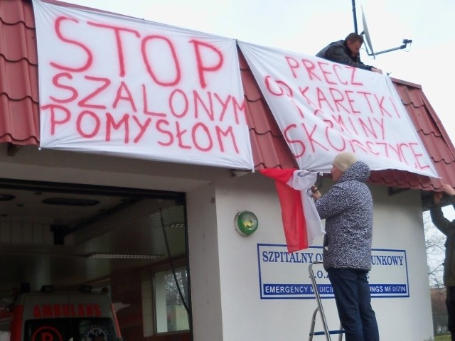 Protesty o karetkę w Nysie na nic się nie zdały.