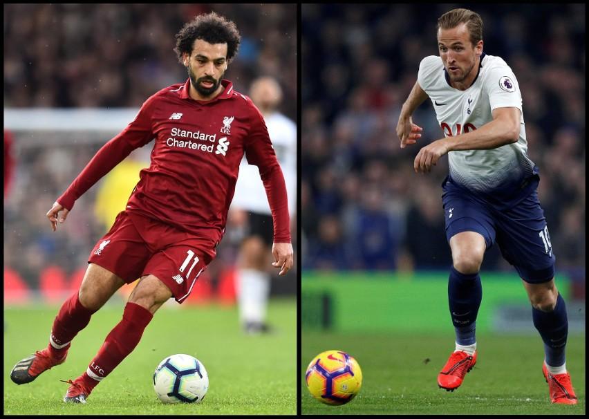 Z lewej gwiazda Liverpoolu Mo Salah, z prawej snajper Tottenhamu Harry Kane