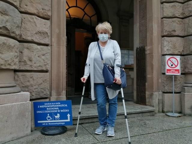 W marcu 2017 roku na panią Ewę Maciejewska spadła rura z gruzem. Kobieta może nigdy nie wrócić do pełnej sprawności