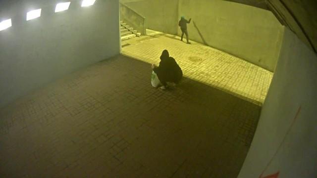 Dzisiaj rano, około godz. 4.15 operator monitoringu miejskiego zauważył dwóch młodych mężczyzn niszczących poprzez malowanie sprayem elewację w przejściu podziemnym przy skrzyżowaniu ul. Pabianickiej i Prądzyńskiego.