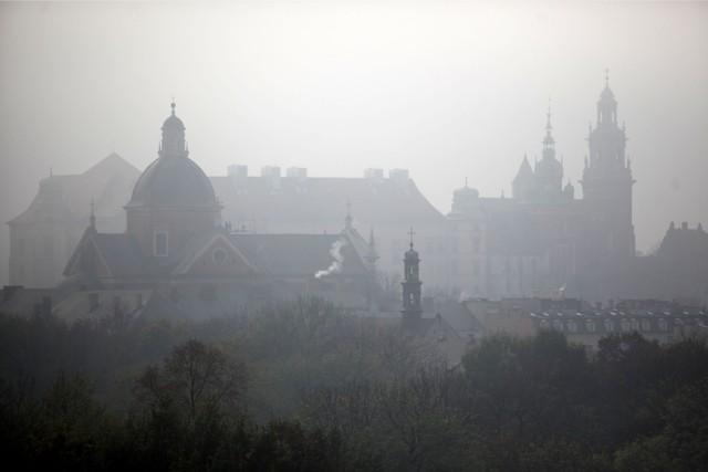 Smog nad Krakowem.