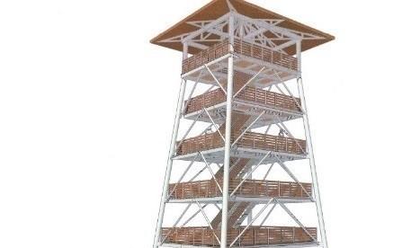 Około 40 metrów będzie miała wieża widokowa, która stanie w pobliżu rzeki Narew w Uhowie koło Łap