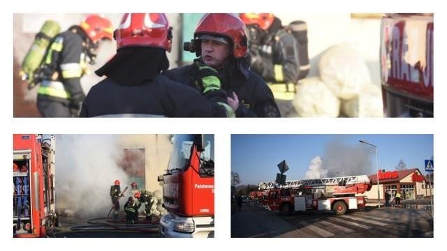 W Małej Nieszawce zapaliła się hurtownia zniczy. W akcji gaśniczej bierze udział 12 zastępów straży pożarnej.Więcej informacji wkrótce.