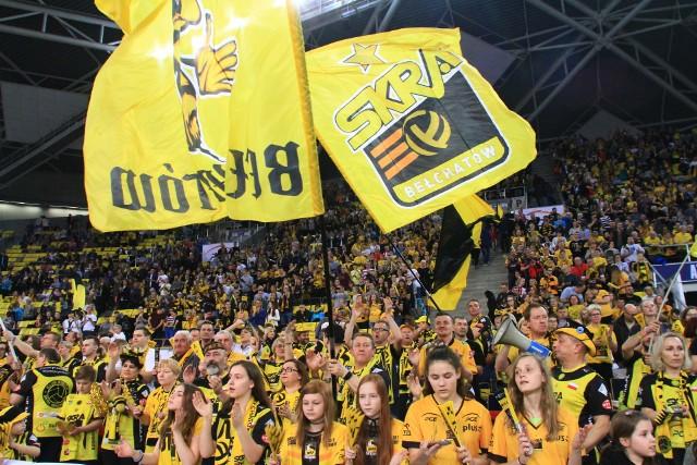 Atlas Arena wypełni się w środę żółto-czarnymi kibicami PGE Skry