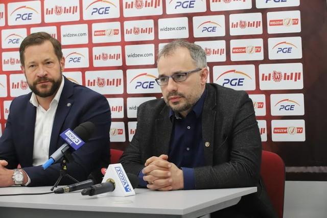 Prezes Piotr Szor (od prawej) i były wiceprezes klubu Tomasz Jędraszczyk