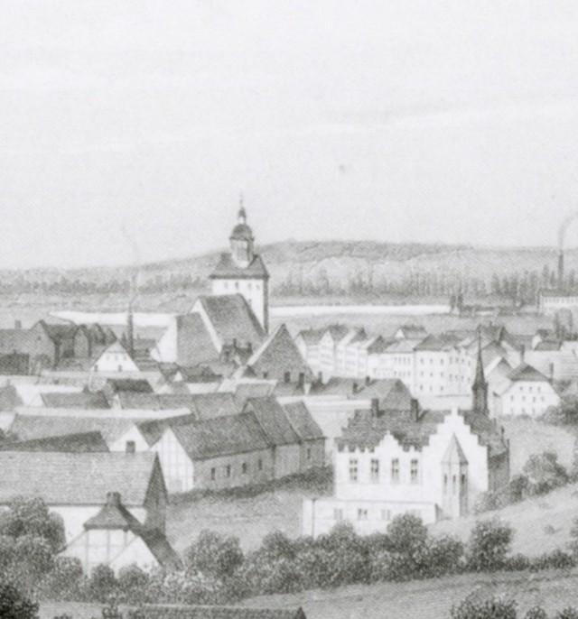 Pejzaż według Poppela i Kurza z drugiej połowy XIX w.