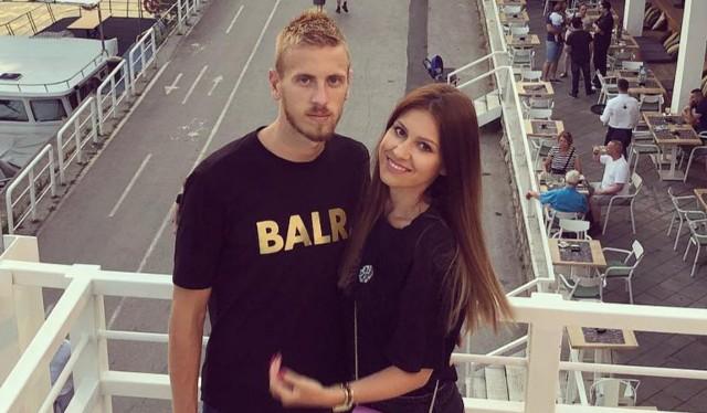Uros Radaković z żoną Miljaną