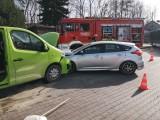 Wieliczka. Wypadek na ulicy Kościuszki. Zderzyły się samochody osobowy i dostawczy