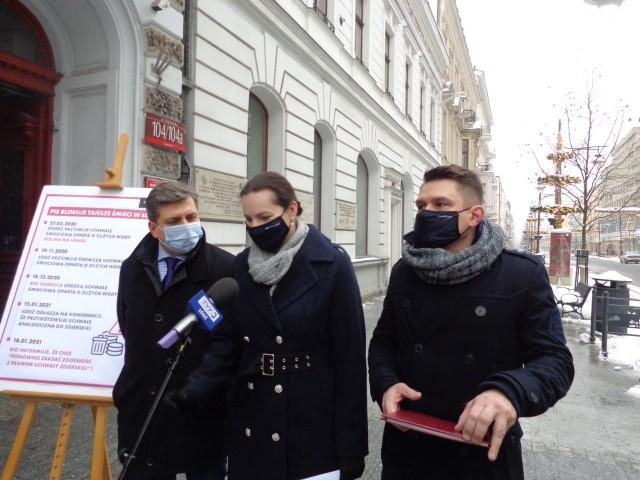Małgorzata Moskwa-Wodnicka, Tomasz Kacprzak i Marcin Gołaszewski mówią, że RIO robi wszystko, by łodzianie płacili za śmieci jak najwięcej.