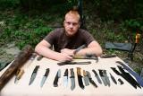 Jakub Wojsa z Opatowa robi noże. Jego produkty są cenione w całej Polsce [WIDEO, ZDJĘCIA]