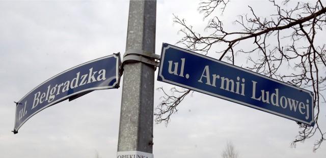 Na liście radnych znalazła się ulica Armii Ludowej