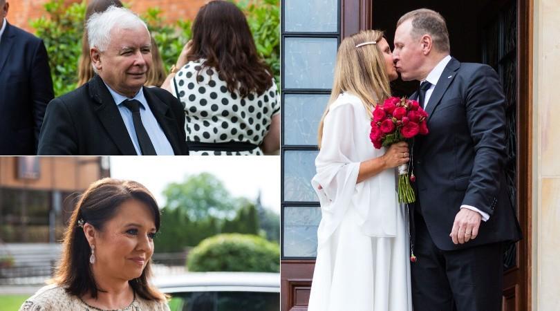 Na ślubie Jacka Kurskiego nie zabrakło prezesa PiS Jarosława Kaczyńskiego i twarzy Wiadomości TVP Danuty Holeckiej. Kto jeszcze był? Zobacz na kolejnych zdjęciach.