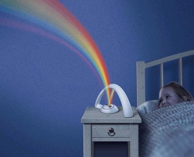 Projektor tęczyProjektor tęczy działa w dwóch trybach: emituje wszystkie kolory jednocześnie albo po kolei