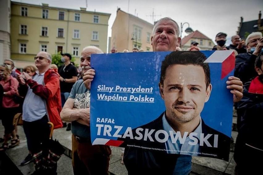 Wyborczy wiec Rafała Trzaskowskiego w Wałbrzychu w sobotę 13 czerwca.