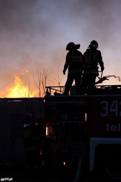 Słupscy strażacy w akcji.
