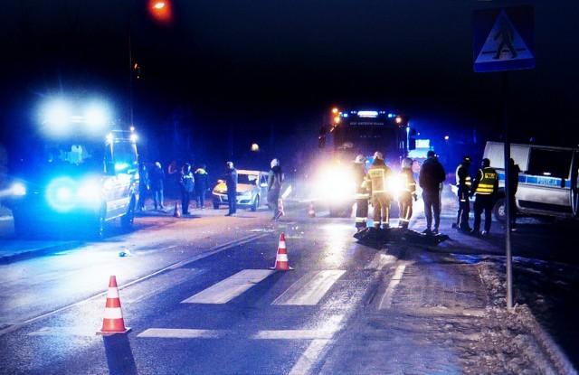 Mężczyzna został śmiertelnie potrącony na przejściu dla pieszych w Białej Niżnej