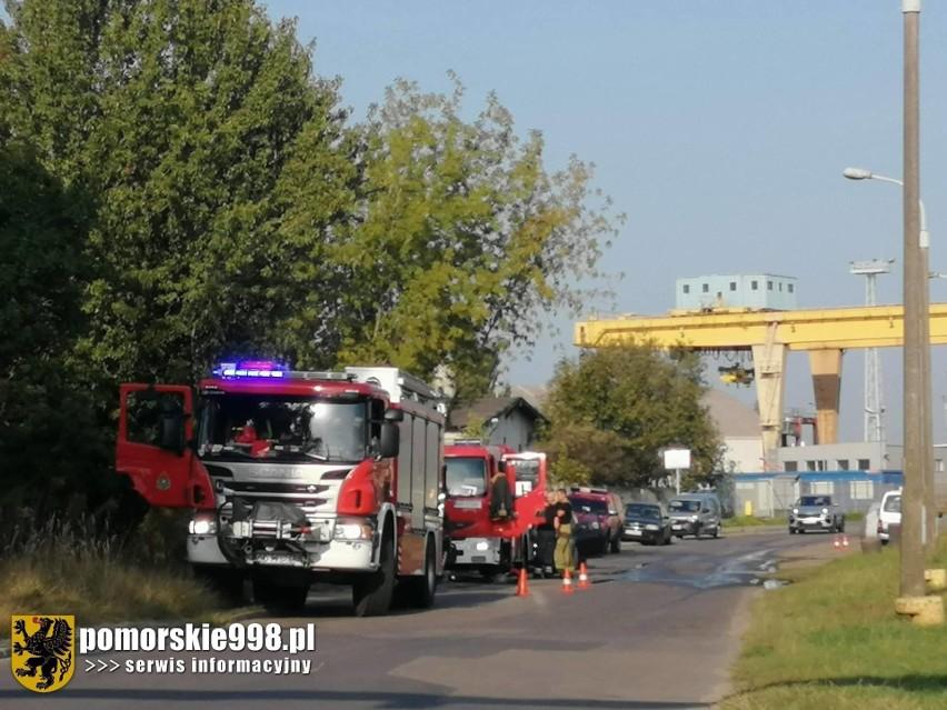 Pożar pustostanu przy ul. Wiślnej w Gdańsku. 23.09.2020 r.