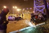 Wypadek na Włókniarzy w Łodzi. Wracali z Halloween Illegal Night Łódź, cudem nie zginęli [ZDJĘCIA]