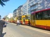 Awaria tramwajowa na Piotrkowskiej w Łodzi. Problemy techniczne MPK Łódź w centrum miasta