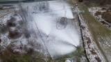 Górka Środulska w Sosnowcu: Rozpoczęło się naśnieżanie. Trzy armatki śnieżne pracują non stop. Temperatura poniżej zera i robi się biało