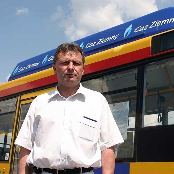 Wiesław Pomianek, dyrektor MPK w Rzeszowie: - Ministerstwo chce nam odebrać wszystkie oszczędności. Zapomina też chyba, że autobusy na gaz nie zatruwają powietrza.