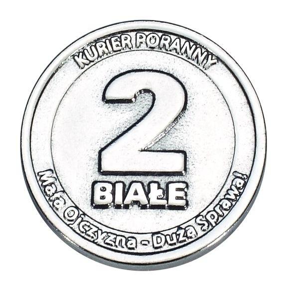 Unikalne moneta - 2 białe już - w sobotę.