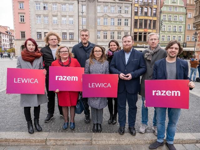 Prezentacja kandydatów komitetu Lewica Razem w wyborach do Parlamentu Europejskiego z okręgu nr 12 (dolnośląsko-opolski).