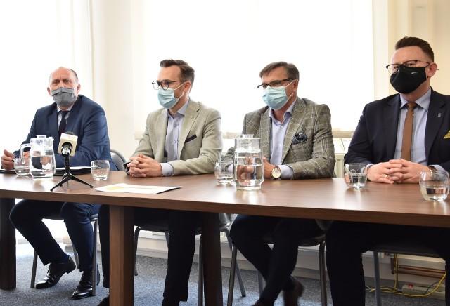 """Konferencja prasowa Związku """"Gospodarka Komunalna"""" w Chrzanowie"""