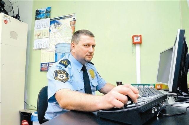 Kiedy działał monitoring, strażnicy mieli podgląd na to, co dzieje się na Rynku, przy dworcu PKS i wokół urzędu miasta. (fot. Daniel Polak)