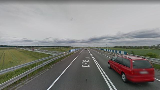 """Odcinek Rogów Opolski - węzeł autostradowy """"Opole Południe""""."""