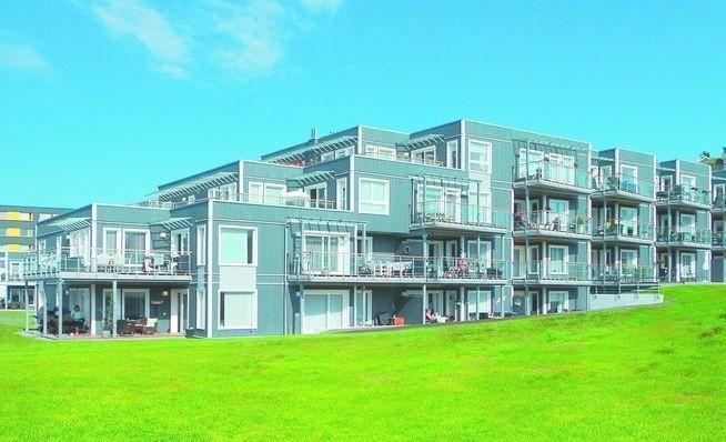 Tak wygląda Bergheim Plass w Trondheim, zbudowane, a...